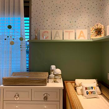 Quadro Infantil Letra Aquarela
