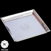 bandeja personalizada de prata classico