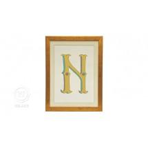 Quadro Infantil Personalizado Alfabeto Letra N