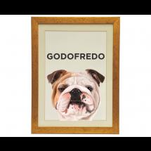 Quadro Personalizado Pet Bulldog Inglês