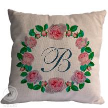 Almofada Personalizada Moldura Floral