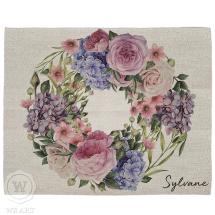Jogo Americano de Páscoa Personalizado Moldura Floral