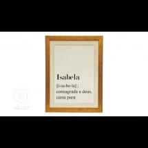 Quadro Significado Nome Isabela