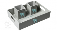 Kit Trocador Bebê Elefante